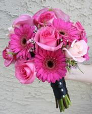 gerbery + růže = krása