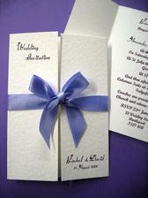 These are our invitations, we've got the font in comic sans and they are just beautiful