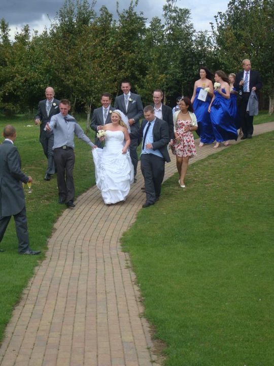 Joanna Edlin{{_AND_}}Danny Pearce - Love how hubby friends are helping me down the hill he he!