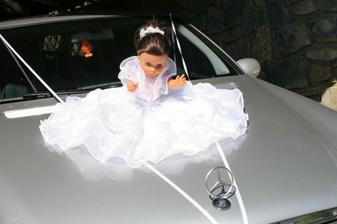 Taková panenka byla na autě, ve kterým jsem jela