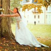 Nádherné svadobné šaty s vlečkou veľ. 38-40, 38