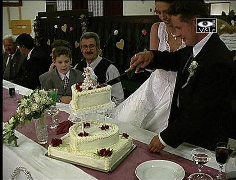 Cecilia{{_AND_}}Stefan Petyko - svadobna torta