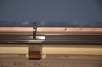Detail hrany u okapu, ještě bez okapu