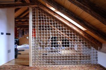 Pohled do multifunkčního prostoru v podkroví