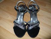 Čierne nízke sandálky, 40