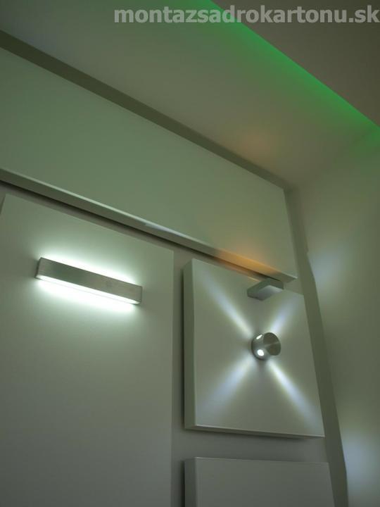 Dekoračné sadrokartónové podhľady - Dekoracny sadrokartonovy podhlad pre nepriame osvetlenie