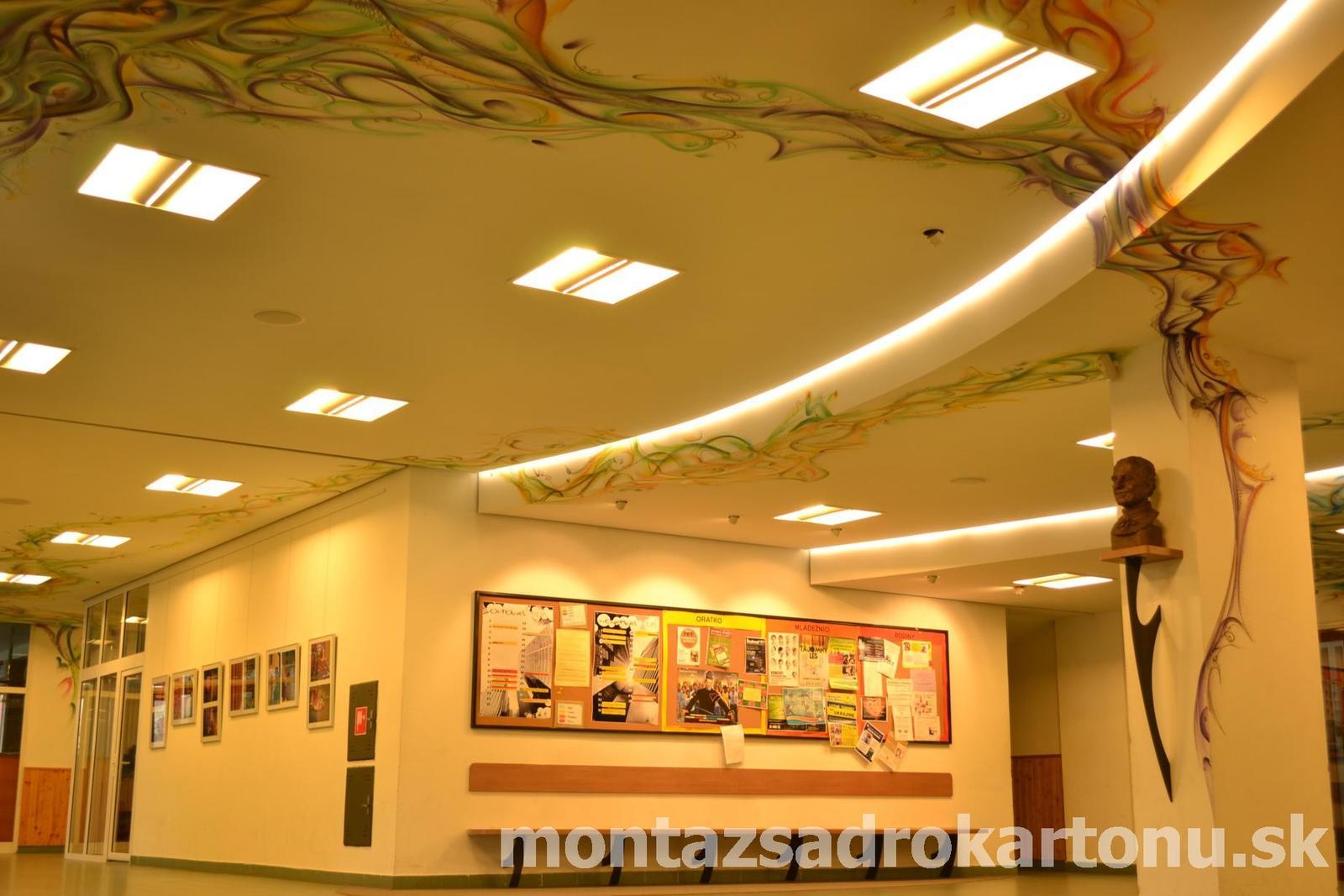 Dekoračné sadrokartónové podhľady - Oblukove sadrokartónové podhlady s nepriamym osvetlenim realizovane DryCon s.r.o.