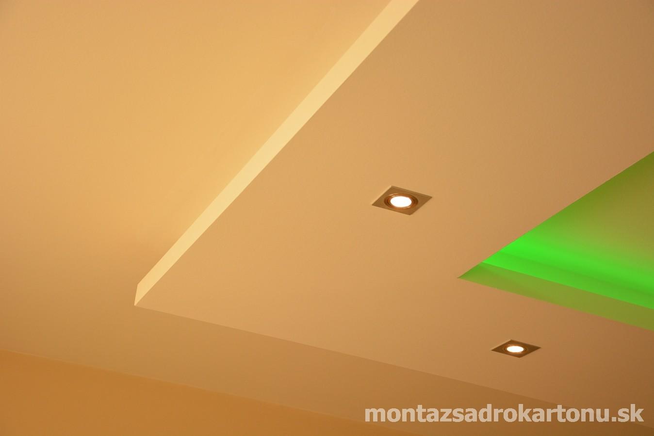 Dekoračné sadrokartónové podhľady - Obojstranna svetelna rampa