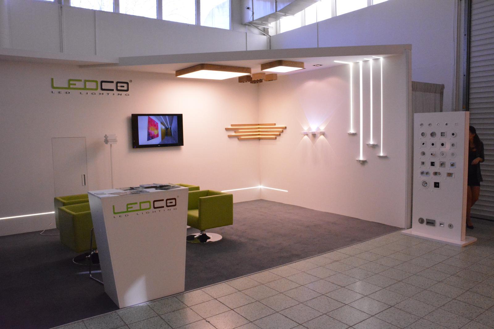 Nábytok a bývanie 2015 Nitra - Sadrokartónové prefabrikáty EasyBoard použité v stánku firmy LEDCO
