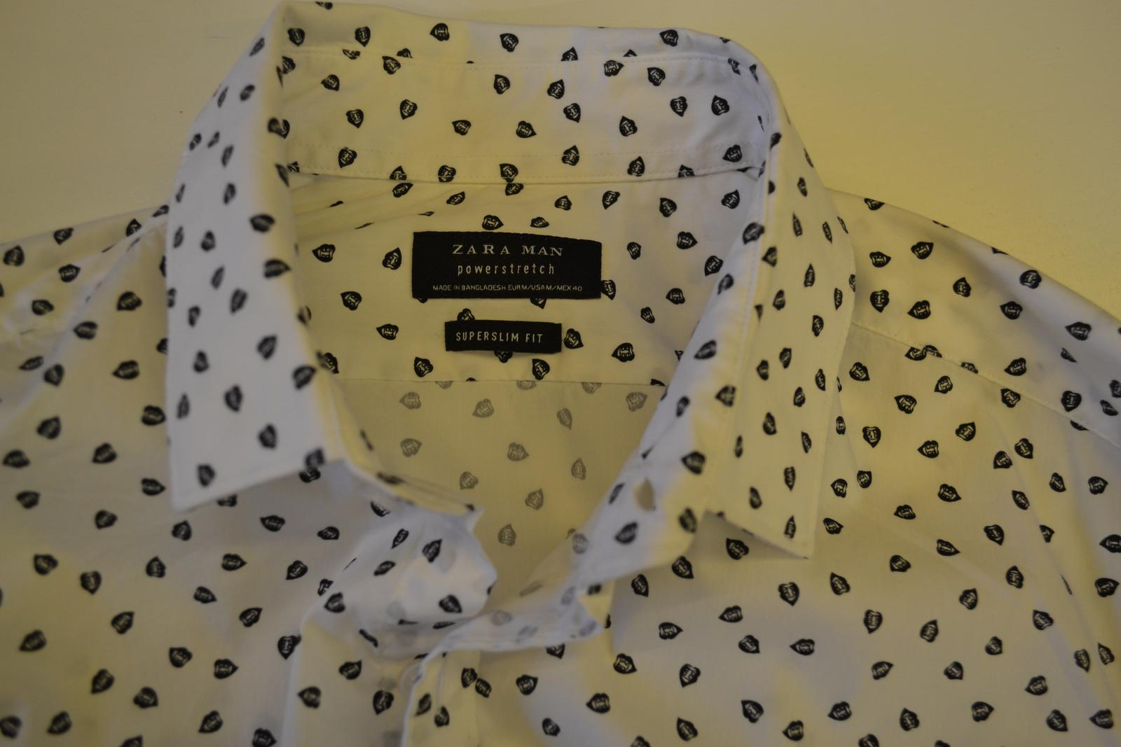 Zara Man košile super slim top stav - Obrázek č. 1