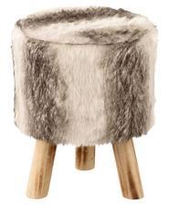 www.kik-textilien.sk taburetka z umelej kožušiny  Ø 30 cm výška 38 cm  20,99 € - splnené