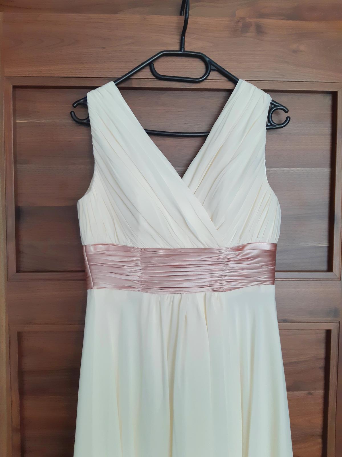 Šifónové šaty vo farbe šampaň - Obrázok č. 3