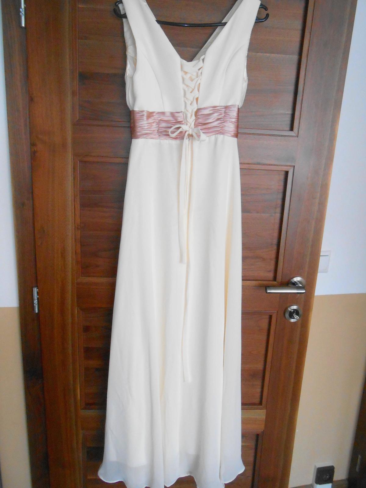 Šifónové šaty vo farbe šampaň - Obrázok č. 4
