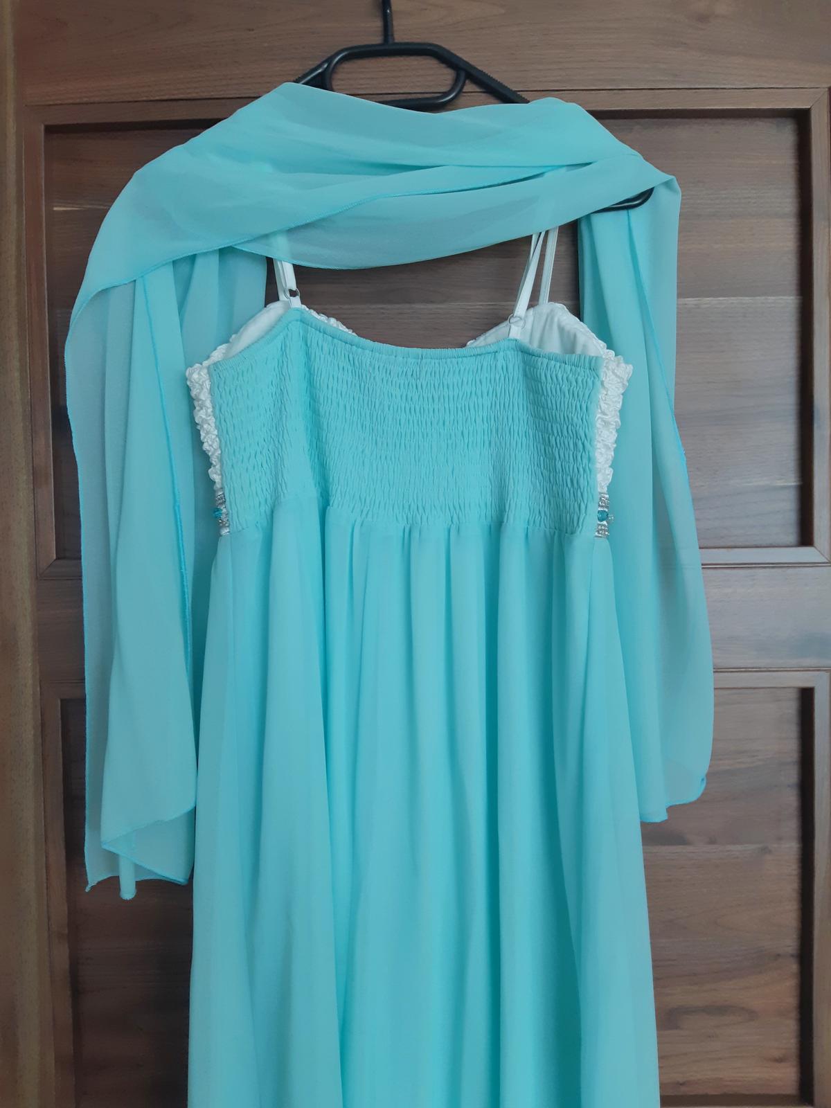 Tyrkysové dlhé šaty - Obrázok č. 4