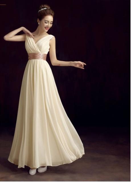 Šifónové šaty vo farbe šampaň - Obrázok č. 1