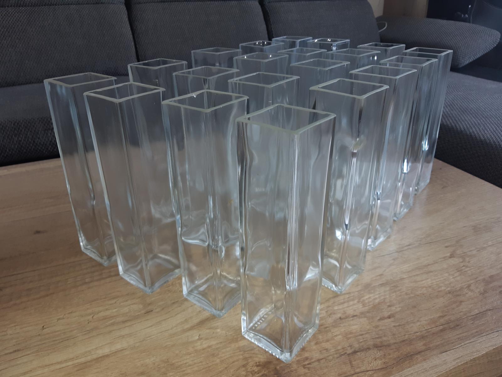 Sklenená váza - hranatá/obdĺžniková - Obrázok č. 3