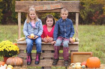Dětičky Eliška, Lucinka a Martínek podzim 2016
