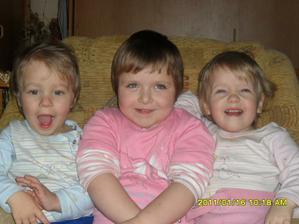naše tři dětičky:Martínek,Lucinka a Eliška