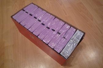 Zásoba fialových ubrousků:)