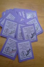 děkovné kartičky do výslužek:)