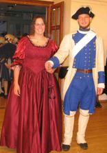 My na plese - já v šatech z půjčovny (zkouška, jestli se mi chce se v něčem takovém i vdávat...).