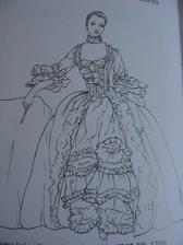 A takhle nějak budou ty šaty vypadat, jen ta vsadka na hrudníku bude méně zdobená...