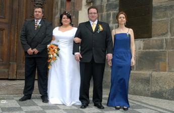 S mojí sestrou a manželovým bratrem