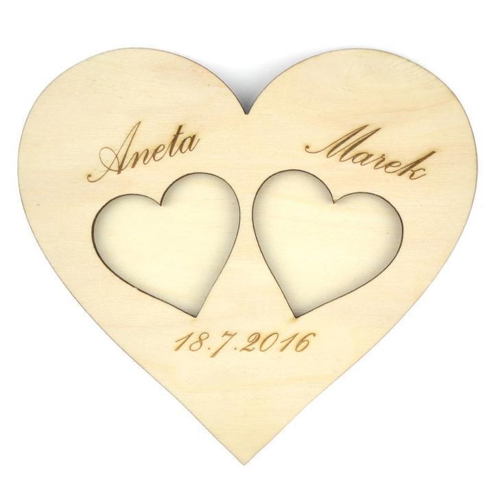 Svatební dřevěné dekorace - Svatební doplňky s.r.o.