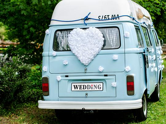 Svatební dekorace na auto - Obrázek č. 24
