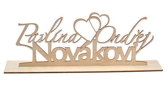 Svatební dřevěné dekorace - Svatební dekorace s.r.o.
