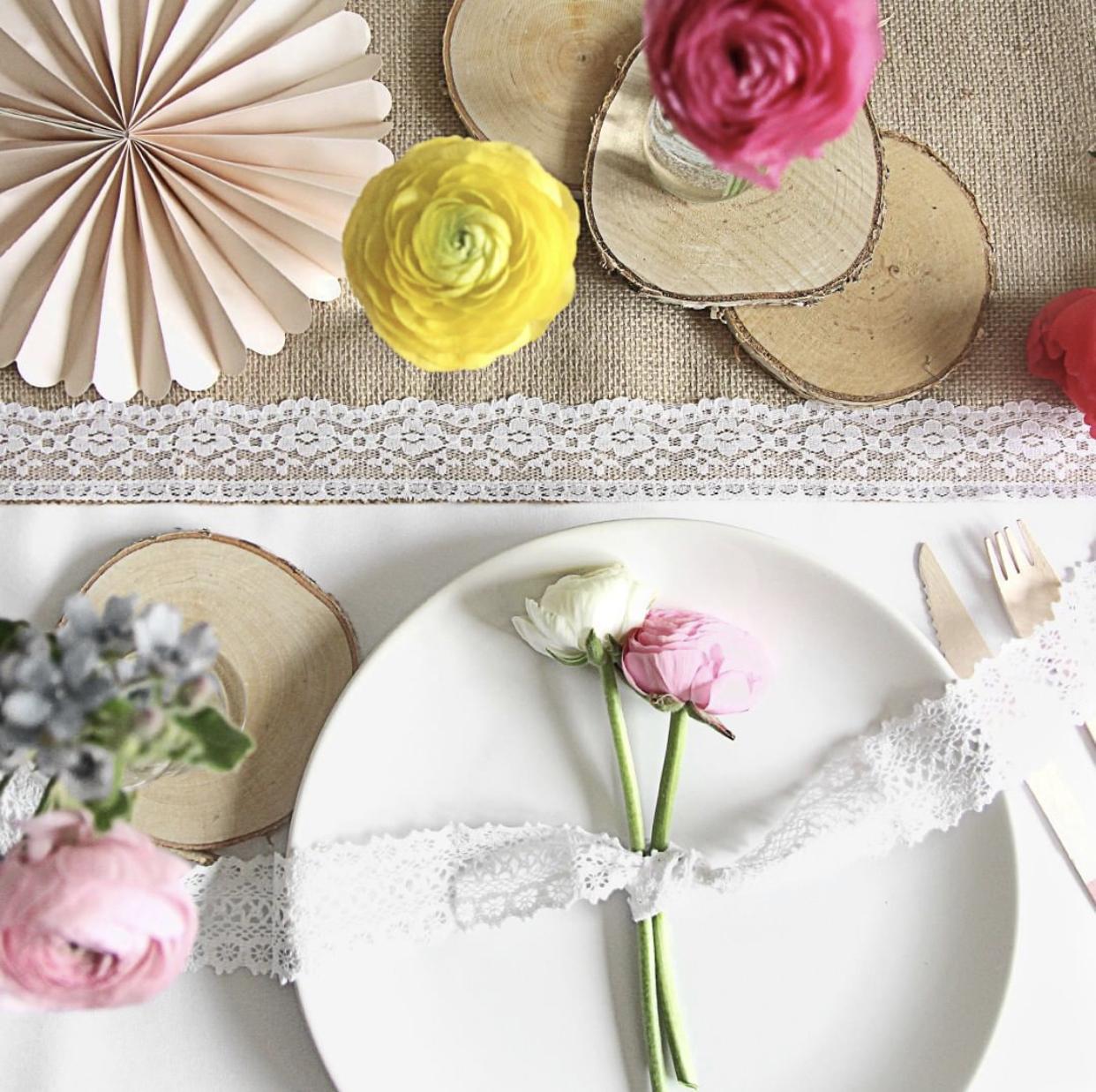 Jutové a přírodní dekorace - Nabízíme LEVNÉ svatební dekorace