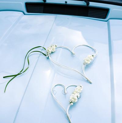 Svatební dekorace na auto - Obrázek č. 37