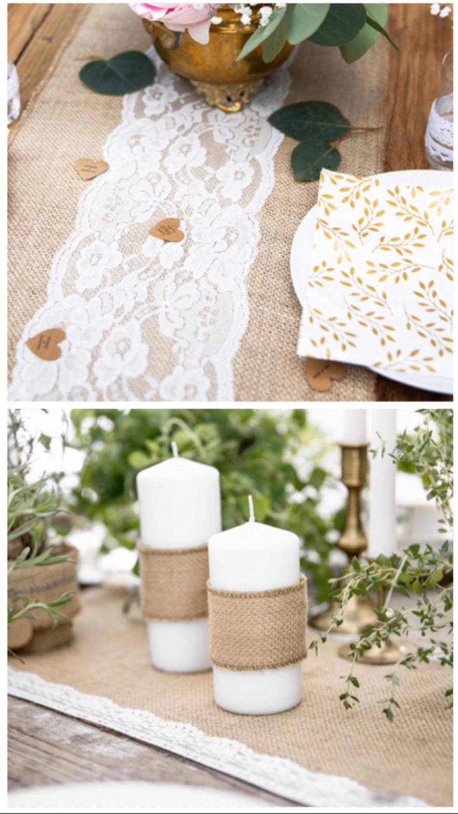 Jutové a přírodní dekorace - Svatební doplňky s.r.o.