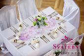 Aranžování svatební tabule - výzdoba na klíč,
