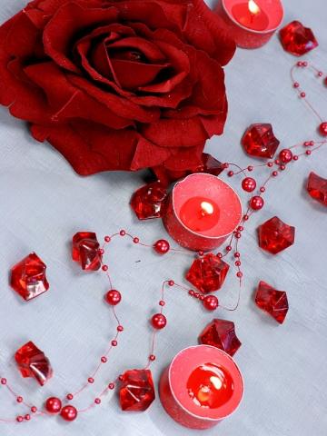 Krystalky bordó 50 ks - Obrázek č. 1