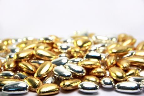 Svatební mandle zlaté 1kg - 245 ks v balení - Obrázek č. 1