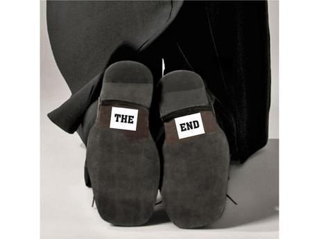 """nálepky na boty  2 ks - """" the end """" - Obrázek č. 1"""