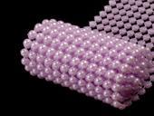 perličkový pás fialový lila,