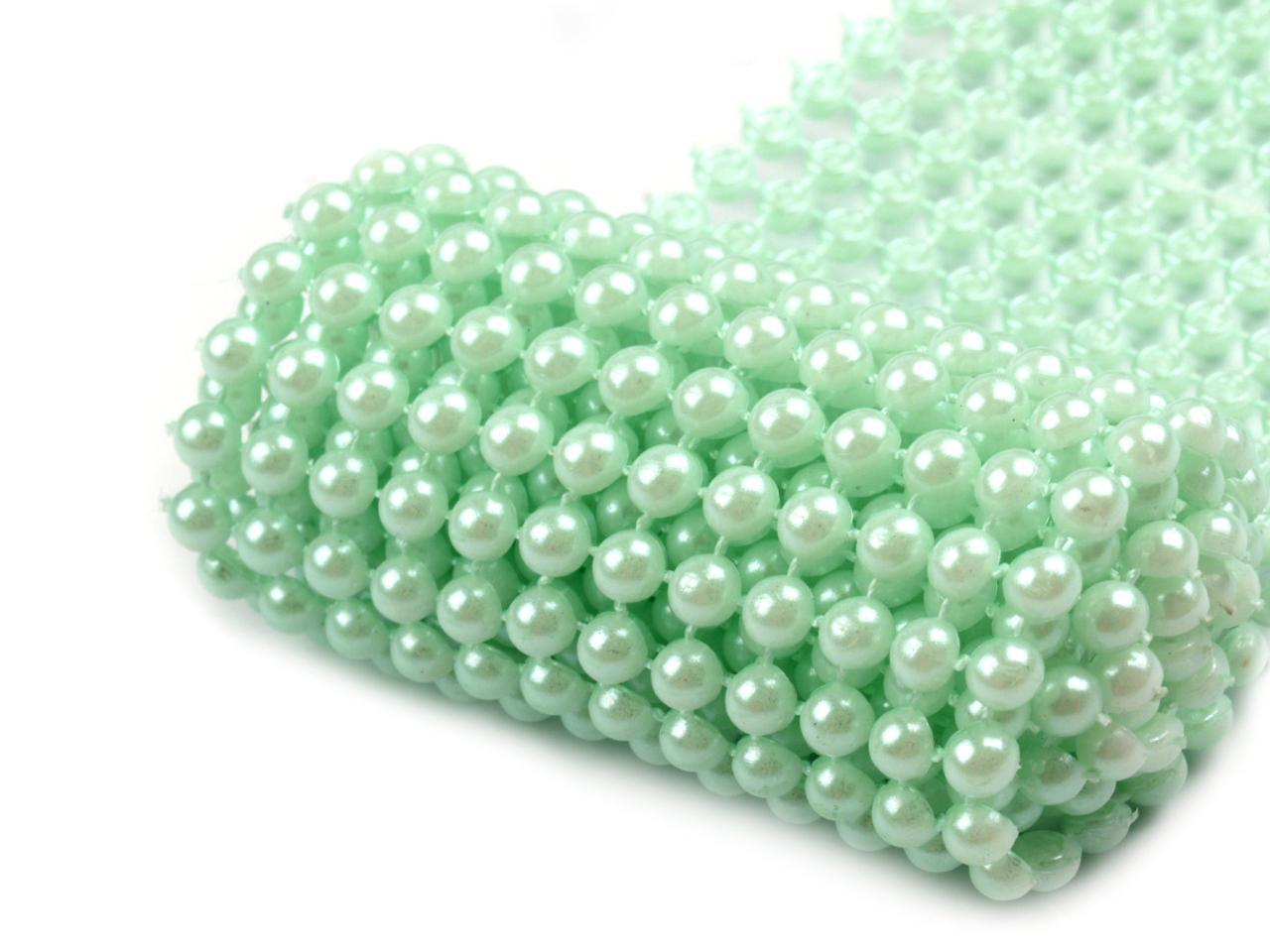 perličkový pás mint  - Obrázek č. 1