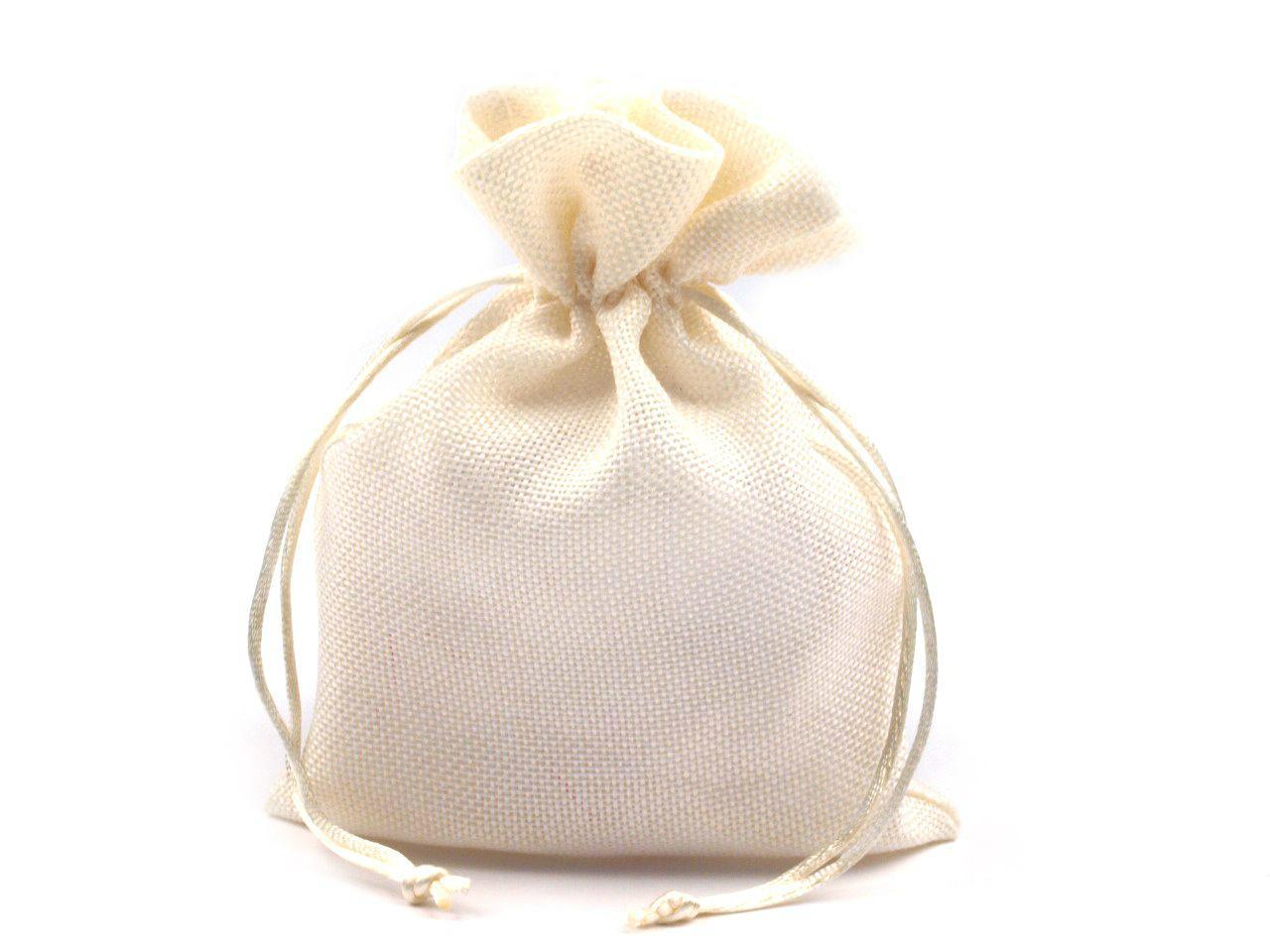 jutový pytlíček bílý  - Obrázek č. 1