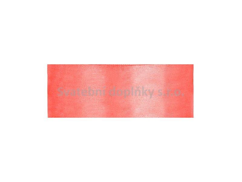 Stuha neonová oranžová saténová 2,5 cm - Obrázek č. 1