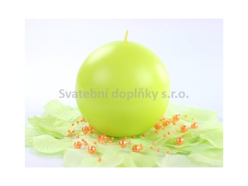 Kulatá svíčka zelené jablko - Obrázek č. 1