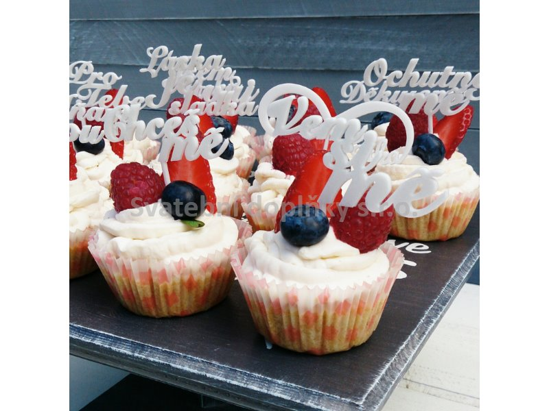 Sada na cupcakes 12 ks - Obrázek č. 1