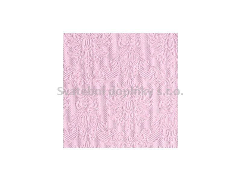 Ubrousek embosovaný růžový světlý 15 ks - Obrázek č. 1