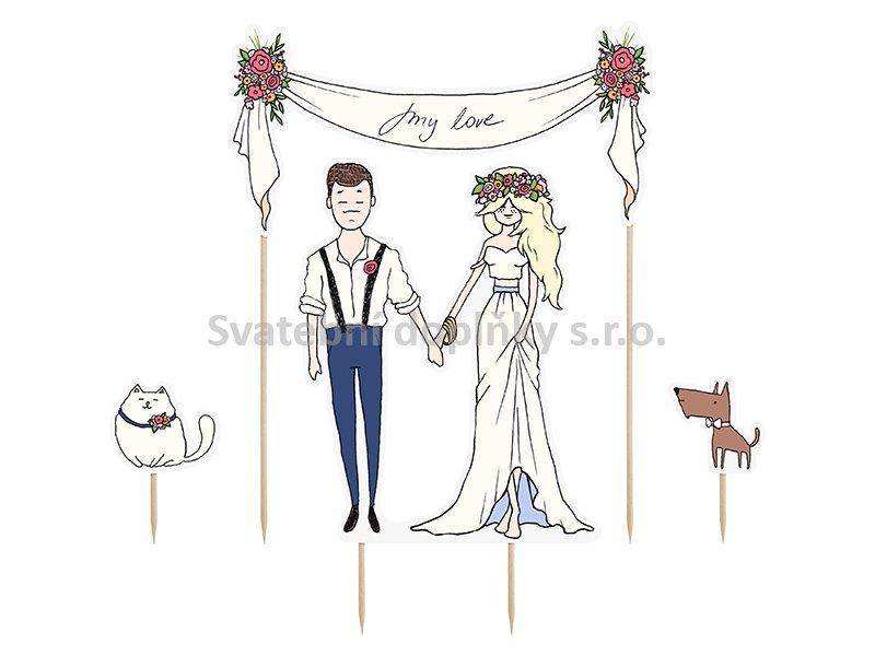"""Zápich na dort """" MY LOVE """" novomanžele - Obrázek č. 1"""