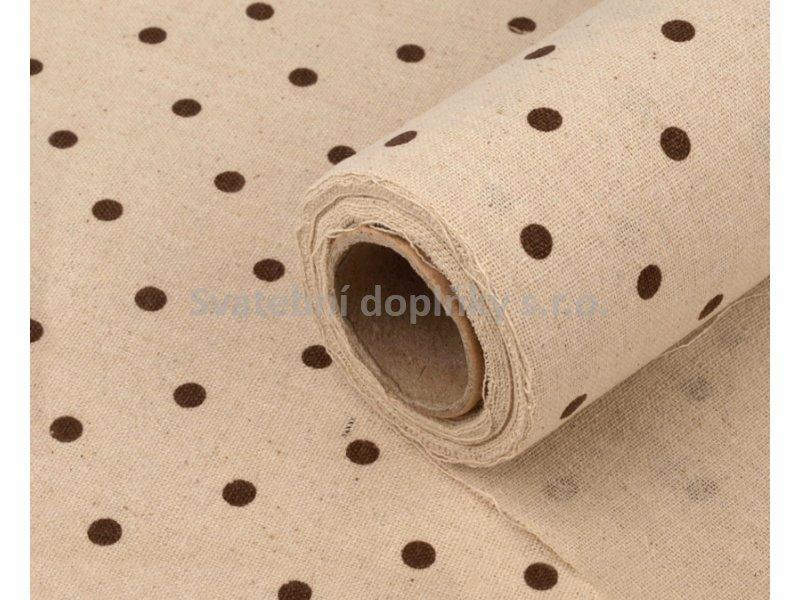 Juta s hnědými puntíky - Obrázek č. 1