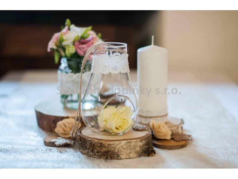 Skleněná váza k zavěšení 10,5 cm - Obrázek č. 1