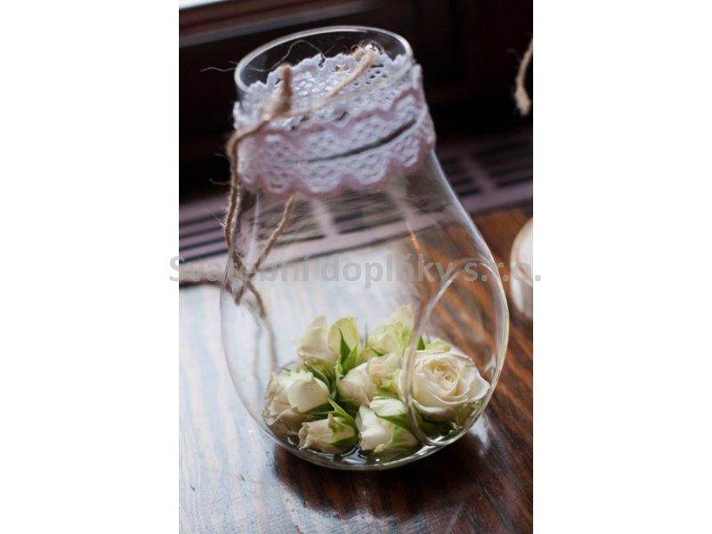 Skleněná váza k zavěšení 17 cm - Obrázek č. 1