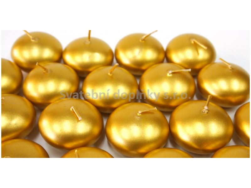 Plovoucí svíčka zlatá perleť - Obrázek č. 1