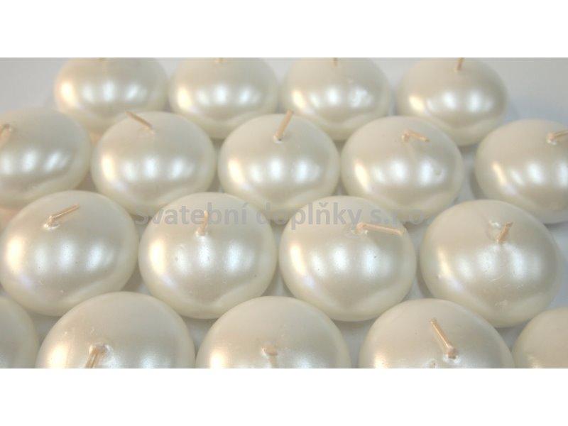 Plovoucí svíčka bílá perleť - Obrázek č. 1